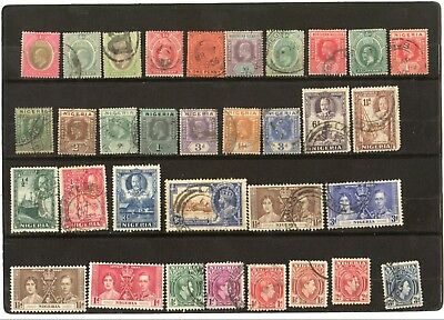 Nigeria Lot Of 100 Old And New Stamps, Used And Mh