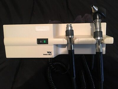 Welch Allyn 767 Series Wall Transformer Otoscope/Ophthalmoscope With One Head