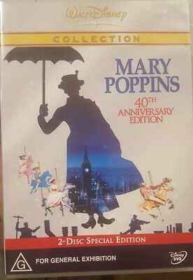 Mary Poppins 40Th Anniversary Collector's 2-Disc Special Edition Rare Disney Dvd