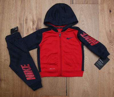 7989a1ecb Nike Baby Boy 2 Piece Jogging Set ~ Navy Blue & Red ~ Tracksuit ~ Therma