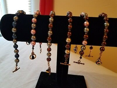 Lot Of 6 Beaded Bracelets Stocking Stuffer Gift Wholesale Restock