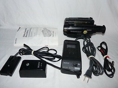Sony Handycam CCD-TR44 8mm Video8 Camcorder VCR Player Camera Video Transfer
