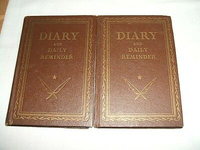 """Two Vintage """"diary And Daily Reminders"""" ~~1949 And 1950"""