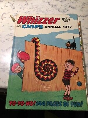 Vintage Whizzer and Chips 1977 Annual