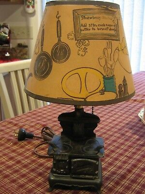 Vintage Miniature Acme Stove Lamp With Shade Works Very Cute 37 50 Picclick