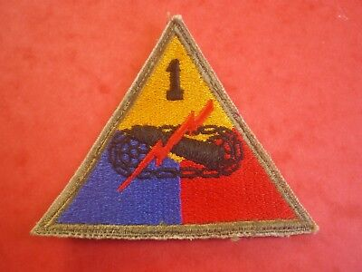 PATCH US WW2 1ére ARMORED DIVISION