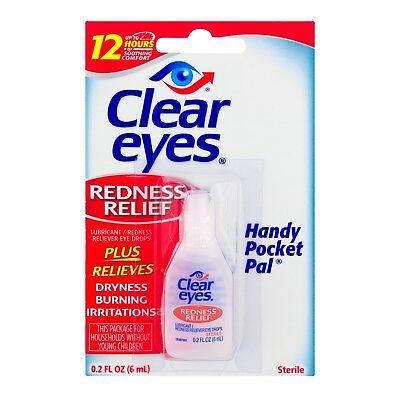 Clear Eyes Redness Relief Eye Drops 6ml 0.2 fl oz