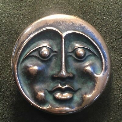 Gorgeous Stanley Owsley Bronze Moon  Face Belt Buckle