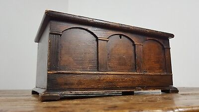 Antique Edwardian Ecclesiastical Church Wood Pine Hinged Box Made Scotland