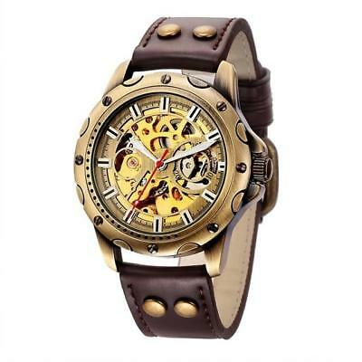 Mechanical Mens Wrist Watches Automatic Skeleton Vintage Watch Men