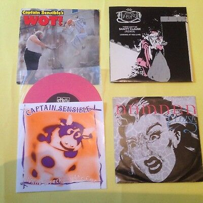 "THE DAMNED VIER /Four   7"" Singles    Sammlung Job Lot Punk CLASH Sex Pistols"