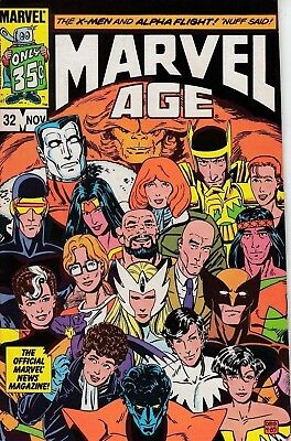 Marvel Comics Marvel Age No. 32 of 140 (X-Men & Alpha Flight) 1985 Very Good