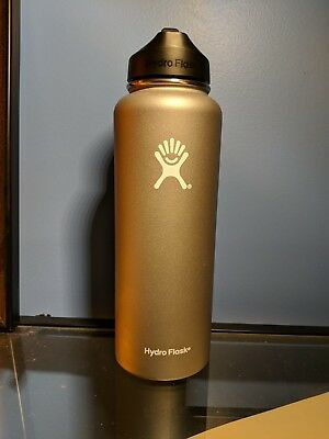 Hydro Flask 40 oz. Wide Mouth With Straw Lid, Graphite/Grey (New)