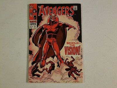 The Avengers 57 1st Vision Great Looking Key