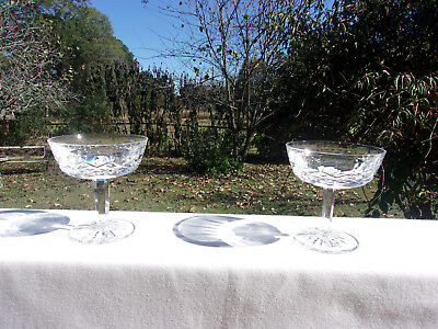 Set of 2  Waterford Leaded Crystal Champagne/Sherbet Glasses