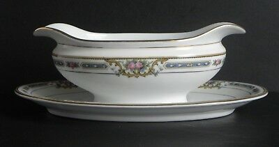 Noritake M Ybry Gravy Boat With Attached Underplate