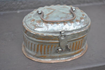 Antique Middle Eastern Hammam Copper & Metal Soap Box Dish. Islamic Collectible