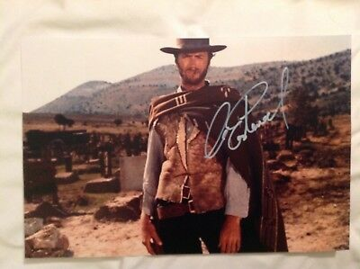 Clint Eastwood Signed 11 X 14 Colour Photo From A Few Dollars More.