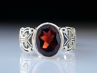 Bold Significance Viking Borre Garnet Sterling Silver Ring Peter Stone Jewelry