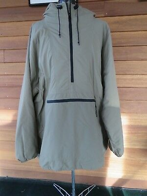 Vintage LL Bean Green Anorak Pullover Hooded Thinsulate Lined Jacket Men's 2XLT