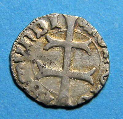 Medieval  silver duck double cross coin  (0789)