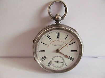 1902 J.G.Graves pocket watch solid silver good condition not working
