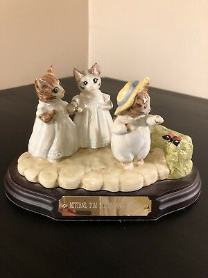 Beswick Beatrix Potter  Mittens, Tom Kitten And Moppet Collectors Piece 1999