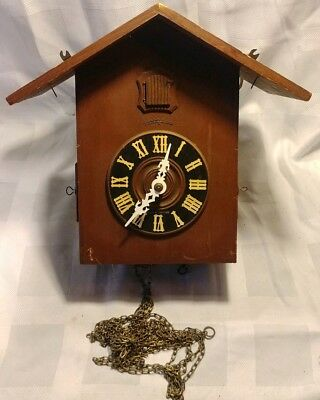 Antique Heco German Cuckoo Clock 8 Day Henry Coehler Movement Parts Repair