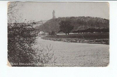 Postcard. Wallace Monument Abbey Craig and River Forth, Stirling. Real Photo
