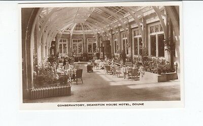 Postcard. Conservatory, Deanston House Hotel, Doune. Real Photo.