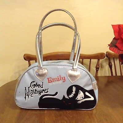 Rare Pre-owned Emily The Strange Good Nightmares Blue Handbag Hard to Find!
