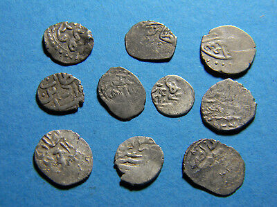 Lot of (10)  medieval  Silver Coins  (0801)