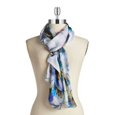 COLLECTION 18 XIIX EIGHTEEN Floral Print Oblong Digigram Scarf Wrap • NEW