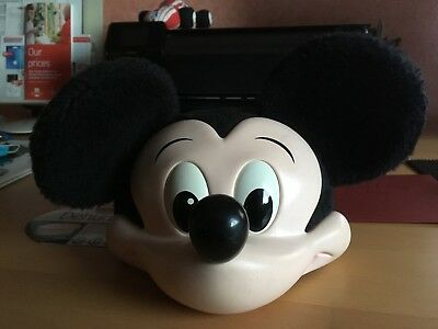 Vintage Mickey Mouse Ears  3D Face Hat  Cap Rare Disney Character 1990's
