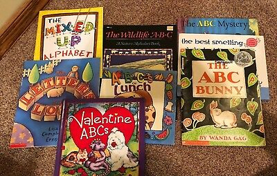Lot of 8 children's Kids Toddlers Alphabet ABCs picture Books