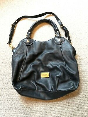 09cbc294b3891 Marc By Marc Jacobs Authentic Black FRAN Q Leather Handbag in very good  cond.
