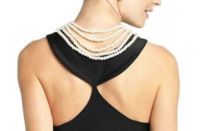 Breakfast at Tiffany's Audrey Hepburn 5-Strand Pearl and Rhinestone Necklace NEW