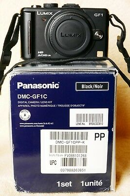 Panasonic GF1 12MP d/cam,boxed,black,accessories.Mint working condition.+EXTRA