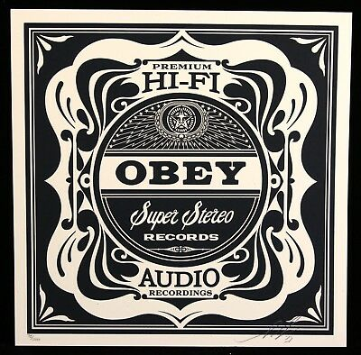 16a07c1976c SHEPARD FAIREY ♢ 50 shades RECORDS sérigraphie SIGNEE ♢ OBEY GIANT MINT