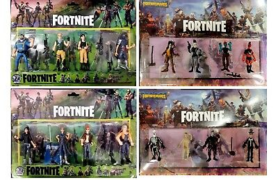 ALL 4Pcs Fortnite Battle Game Royale Save The World Action Figures Kids Toy Gift