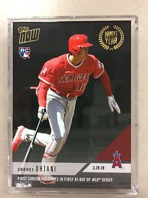 Shohei Ohtani 2018 Topps Now Moment of the Year #2 #MOY-2 RC