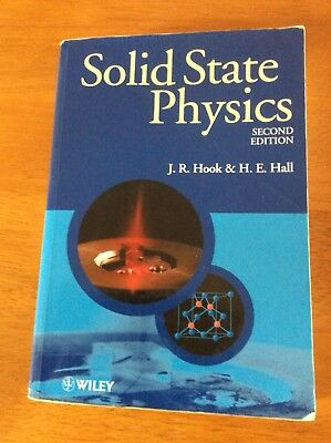 Solid State Physics Second Edition By J.r Hook & H.e Hall