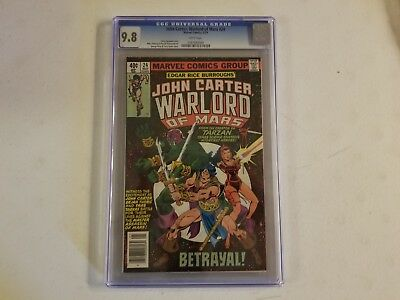 John Carter Warlord Of Mars 24 CGC Graded 9.8 White Pages