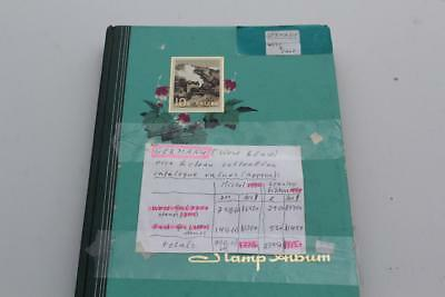 Stamp Album  German Germany East And West Approx 1,100 Stamps