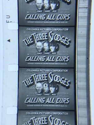 16mm Sound B/W 3 Stooges short Calling All Curs 1939 Classic vg orig.