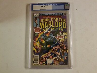 John Carter Warlord Of Mars CGC Graded 9.8 Comic White Pages, Gil Kane Cover Art