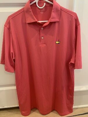 Masters Tech Golf Polo Shirt -L- Augusta National- Poly Stretch
