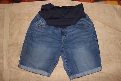 OLD NAVY BRAND Maternity Shorts Size 16 Regular Dark Wash Jean Stretch
