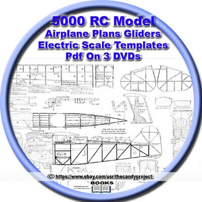 Scale RC Model Airplane Plans Military Templates Pdf 3 DVDs 7,000+