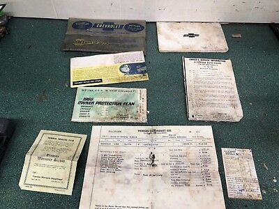 1966 Ss396 4-Speed Chevelle 138 Protect-O-Plate, Dealer Invoice, Owners Guide
